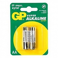 "Батарейки алкалиновые ""GP Super AA"", 2 шт, GP BATTERIES"